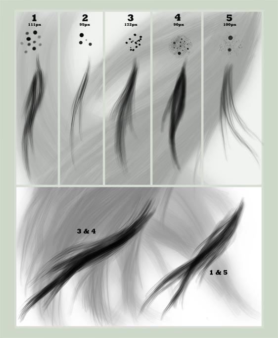 Кисти «Волосы» для Photoshop