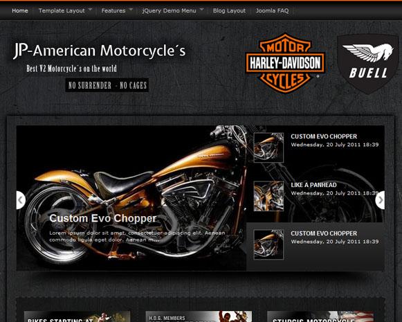 Шаблон «American Motorcyle» для Joomla