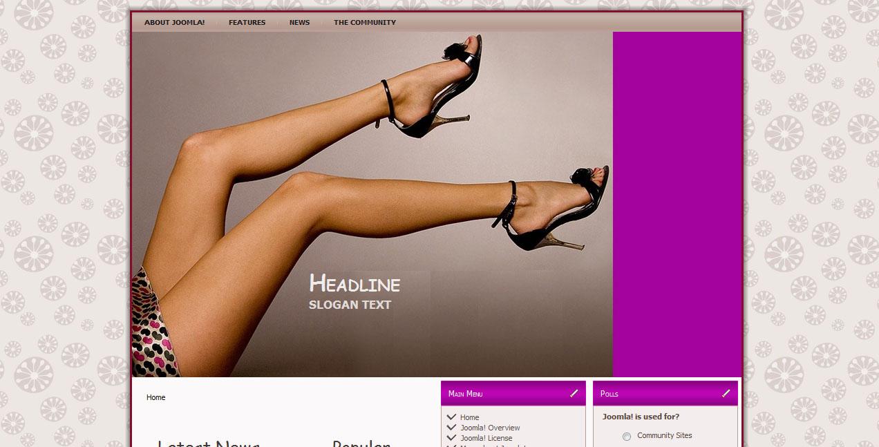 Шаблон «Shoes» для Joomla
