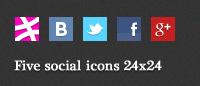 Иконки «Five social» 24x24