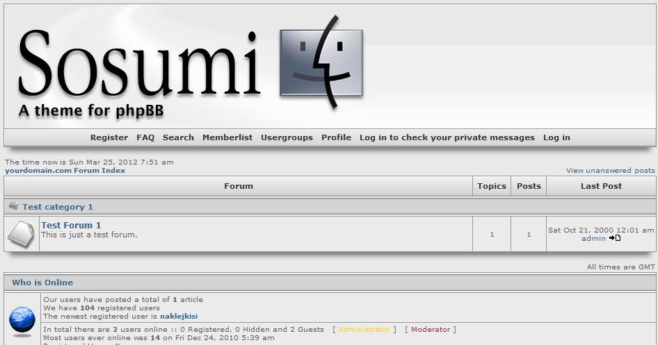 Шаблон «Sosumi» для phpBB