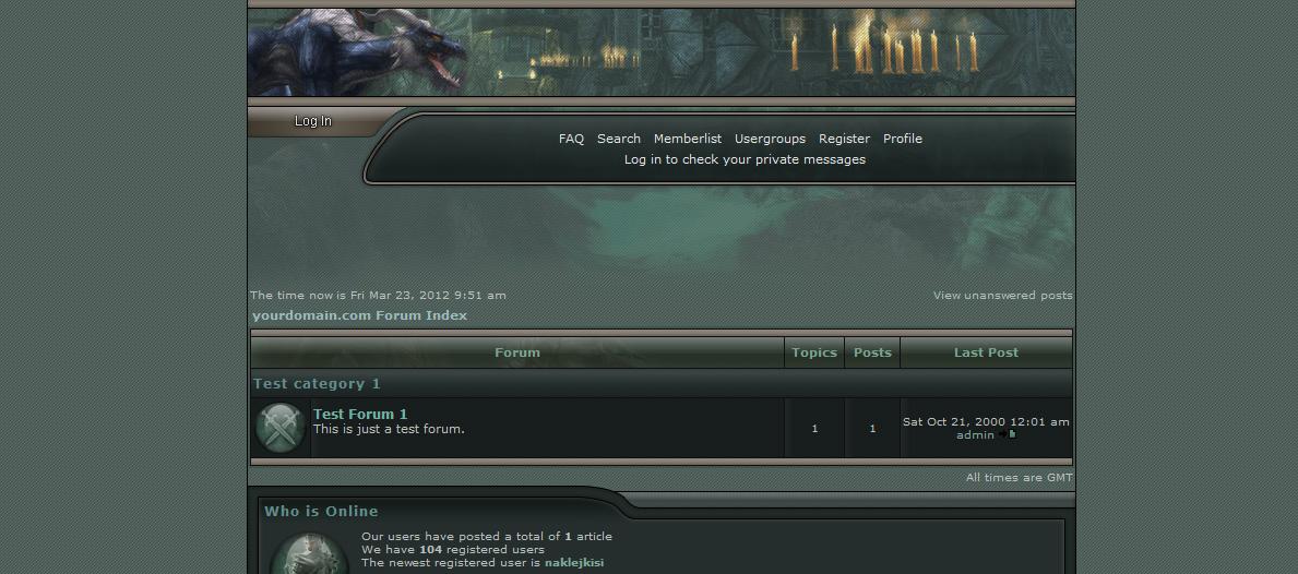 Шаблон «GuildWars Allian» для phpBB