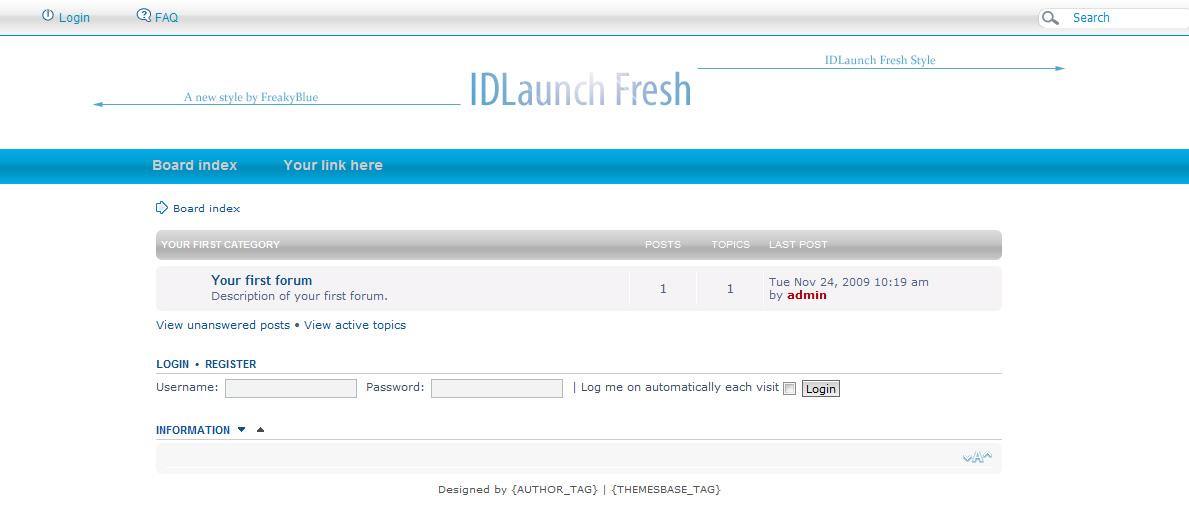 Шаблон «Launch Fresh» для phpBB