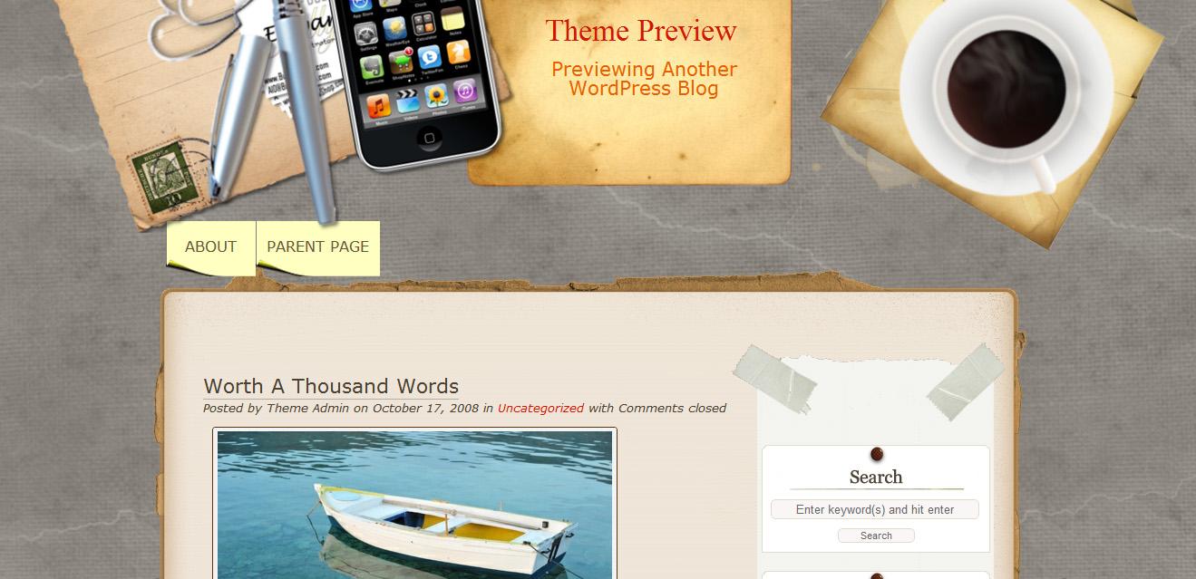 Тема Desk Mess Mirrored для Wordpress
