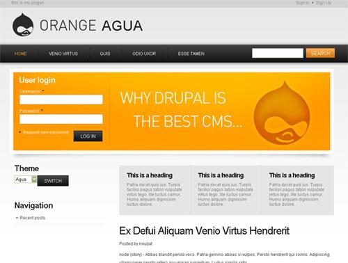 Оранжевый шаблон Drupal