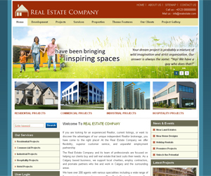 Шаблон Real Estate Drupal