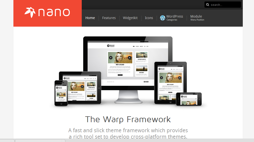 Шаблон Nano2 Wordpress