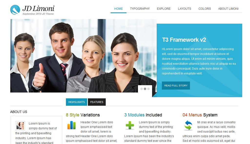 Бизнес шаблон Drupal