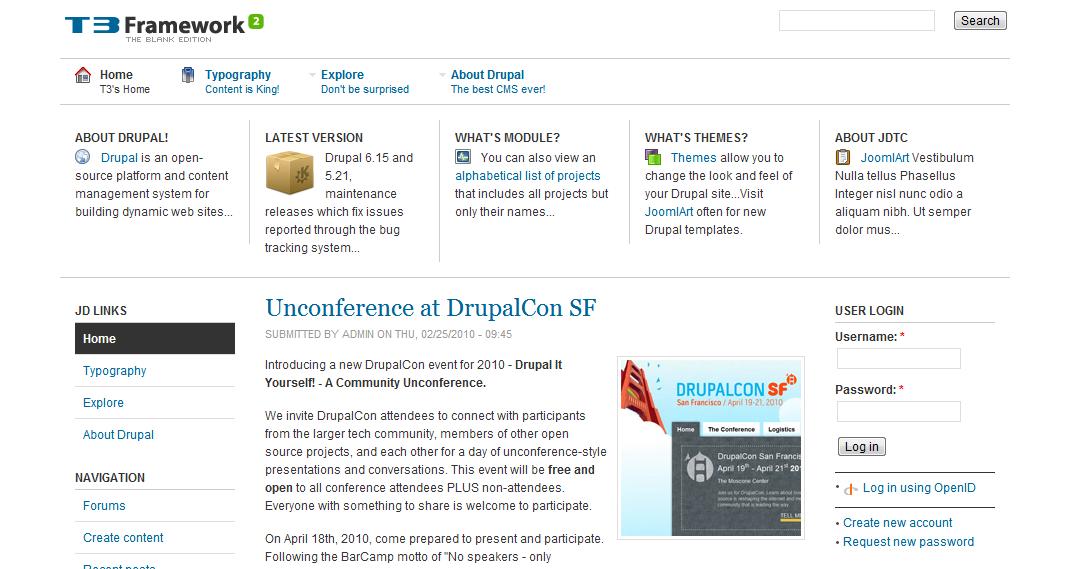 Новостной шаблон Drupal