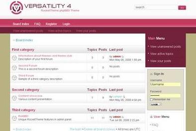 Шаблон Versatility 4 phpBB3