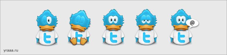 Иконки Twitter: @diumy Twitter