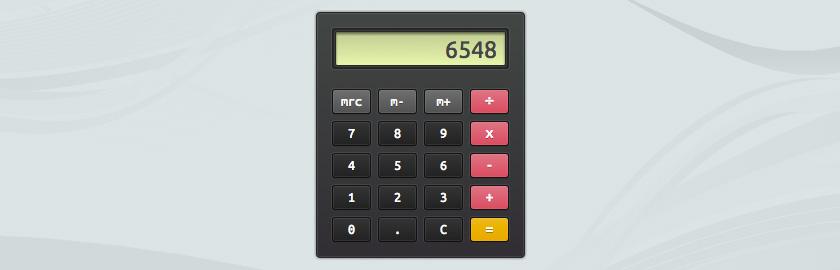 Калькулятор на CSS3