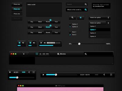 Черный интерфейс, PSD исходник