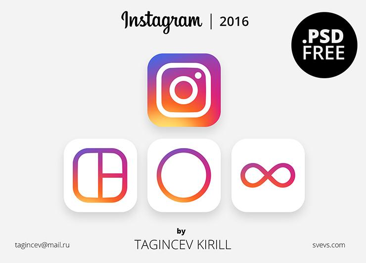 Новые иконки Instagram