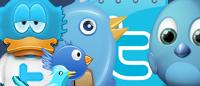 10 наборов иконок Twitter