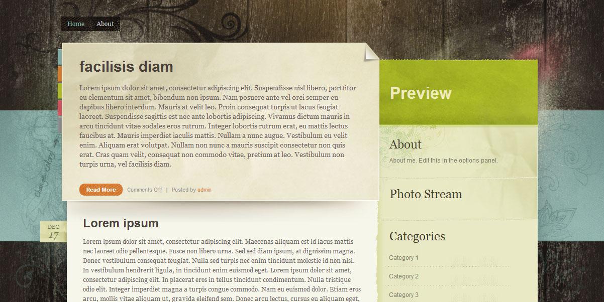 WordPress тема Paper