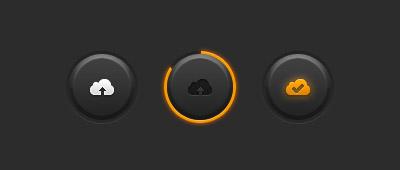Круглая кнопка загрузки PSD