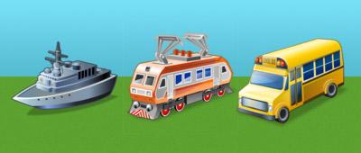 Набор иконок Транспорт