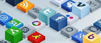 3D иконки социальных сетей