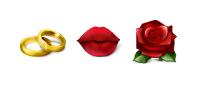 Иконки Свадьба и любовь