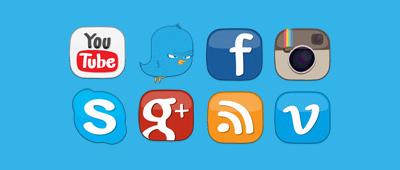 16 мультяшных иконок социальных сетей