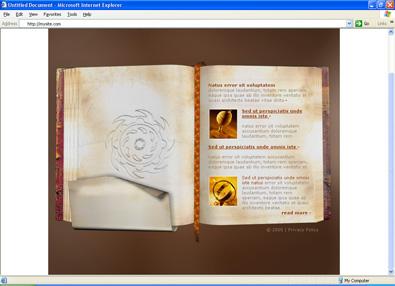 Шаблон в виде книги