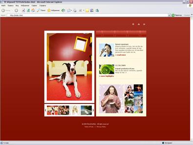 Шаблон портфолио с фотографиями