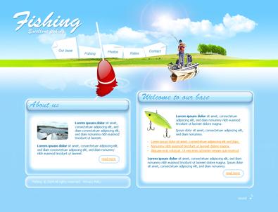 Шаблон Рыбалка
