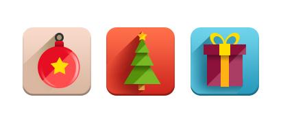 Новогодние Flat иконки