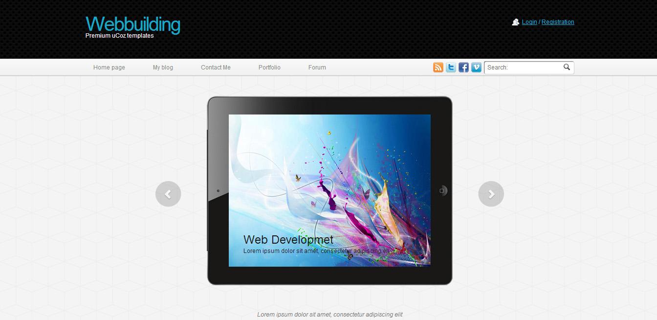 Шаблон сайта портфолио Web Building для uCoz