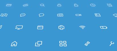 Минималистичные иконки для интерфейса (AI)