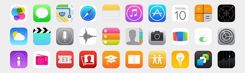Иконки в стиле iOS 8