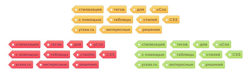 Стилизация тегов с помощью CSS