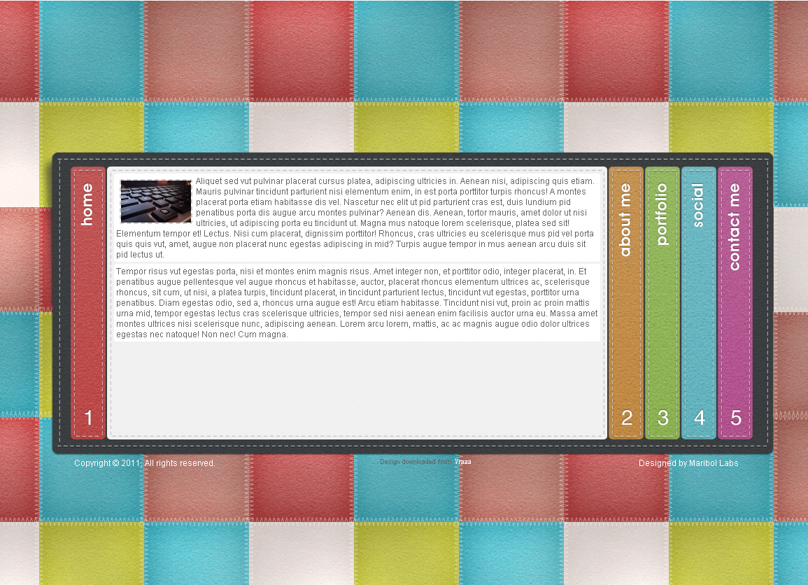 Шаблон портфолио для web-дизайнера