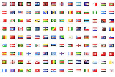 Флаги стран размером 16 на 16 пикселей