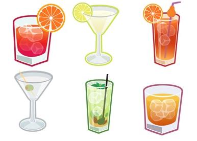 Иконки различных напитков