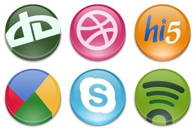 Круглые иконки социальных сетей