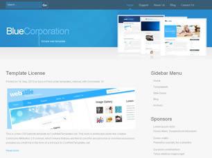 Голубой шаблон для сайта