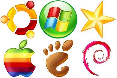 Красочные популярные логотипы