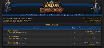 Шаблон phpBB Warcraft