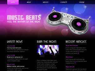 Шаблон для сайта о музыке