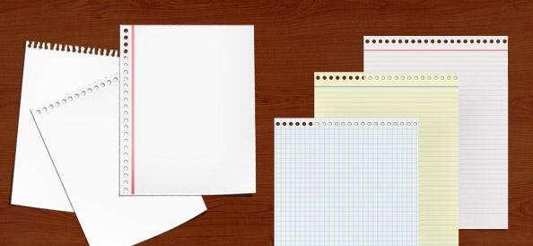 Бумажные листы PSD