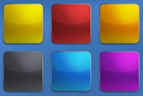 Цветные кнопки в стиле IPhone исходники PSD