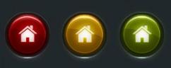 Круглые светящиеся кнопки PSD