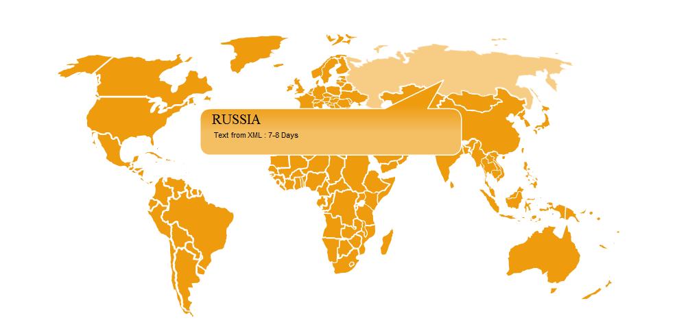 Карта мира на Flash