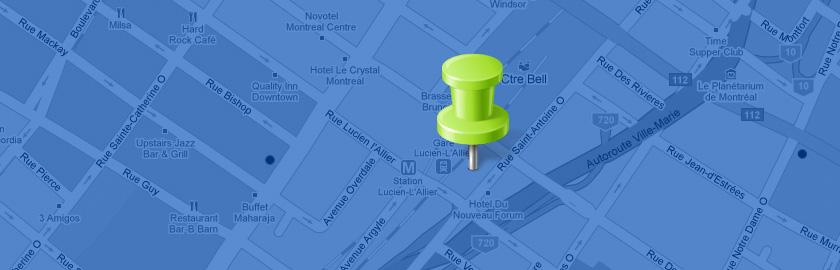 Карта Google в качестве фона сайта