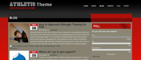 Спортивный шаблон для сайта на Drupal