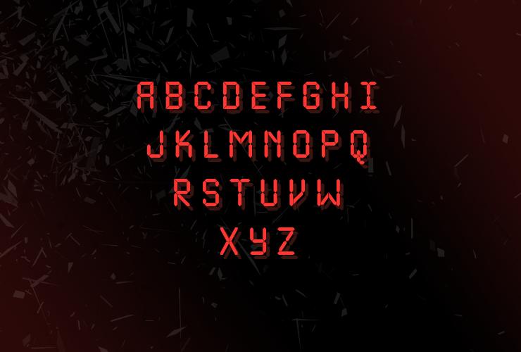 Шрифт LCD Nova 3