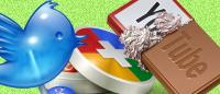 Иконки социальных сетей в виде сладостей