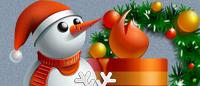 Красивые новогодние иконки PNG для сайта